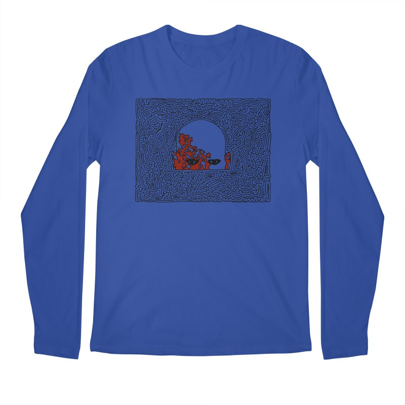 Zombie Men's Regular Longsleeve T-Shirt by I Draw Mazes's Artist Shop