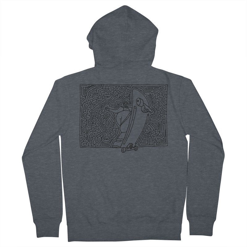 Front Blunt Men's Zip-Up Hoody by idrawmazes's Artist Shop