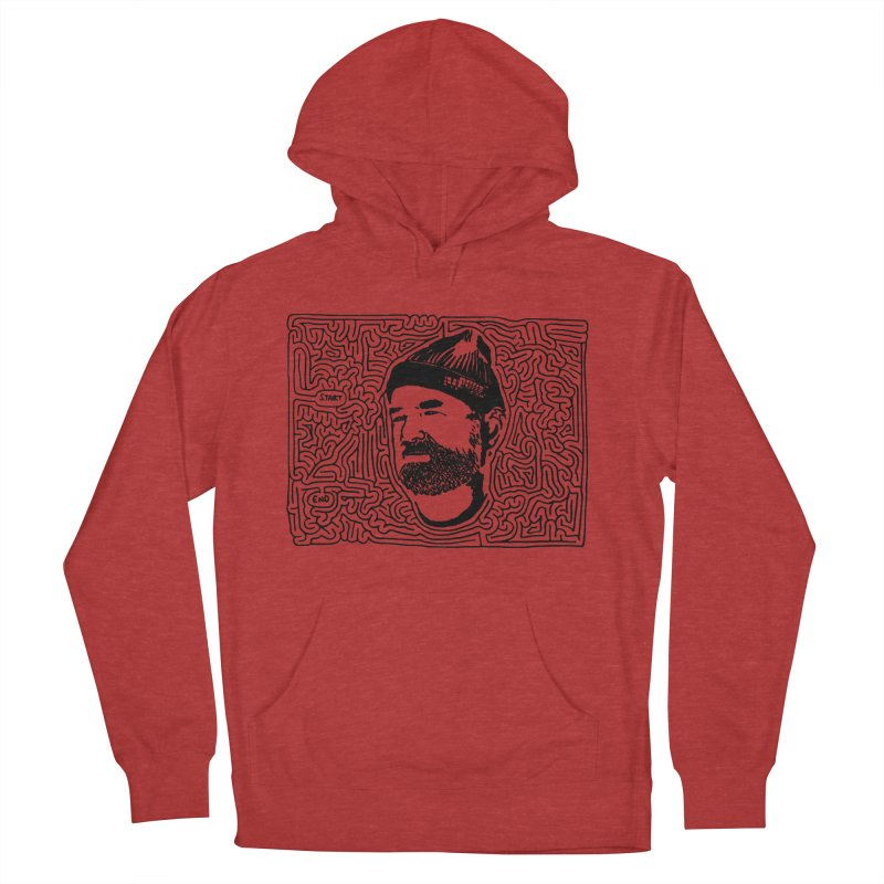 Steve Z Men's French Terry Pullover Hoody by I Draw Mazes's Artist Shop