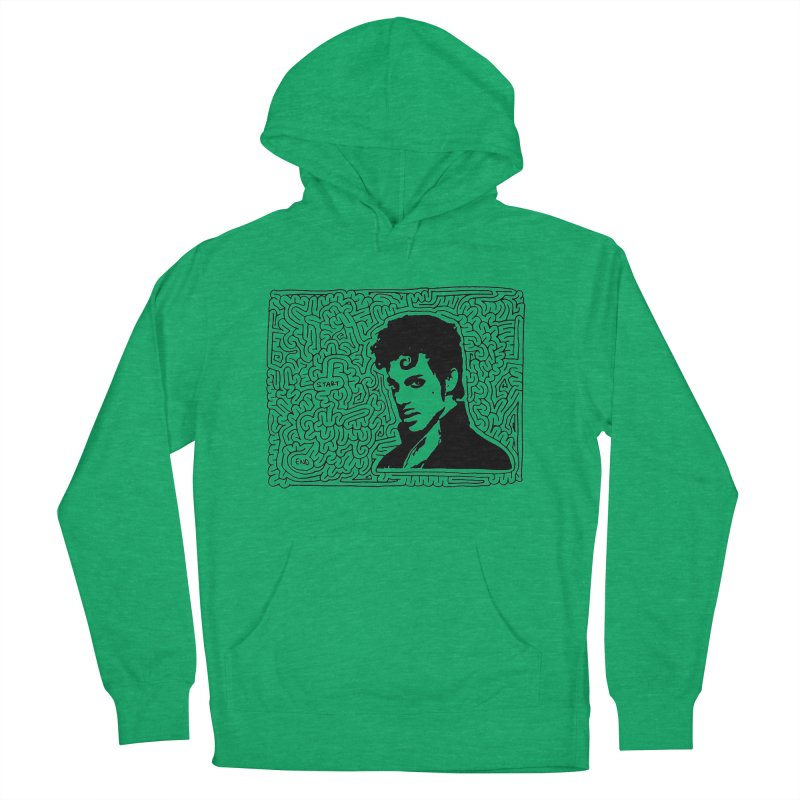 Prince Men's French Terry Pullover Hoody by idrawmazes's Artist Shop