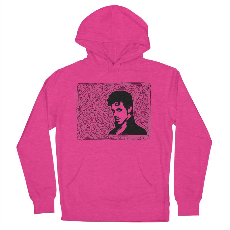 Prince Men's French Terry Pullover Hoody by I Draw Mazes's Artist Shop