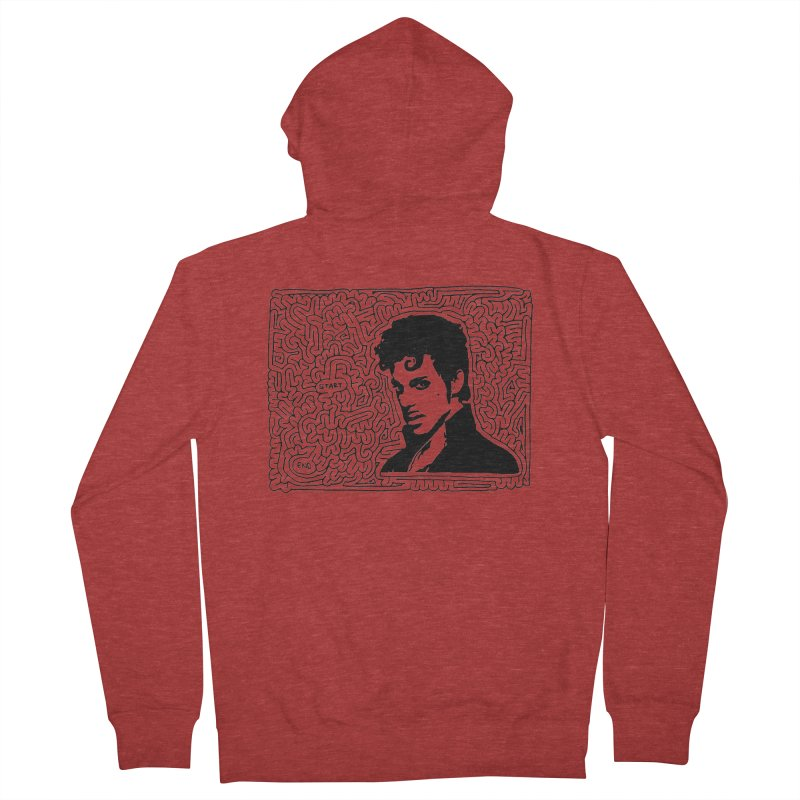 Prince Men's Zip-Up Hoody by idrawmazes's Artist Shop