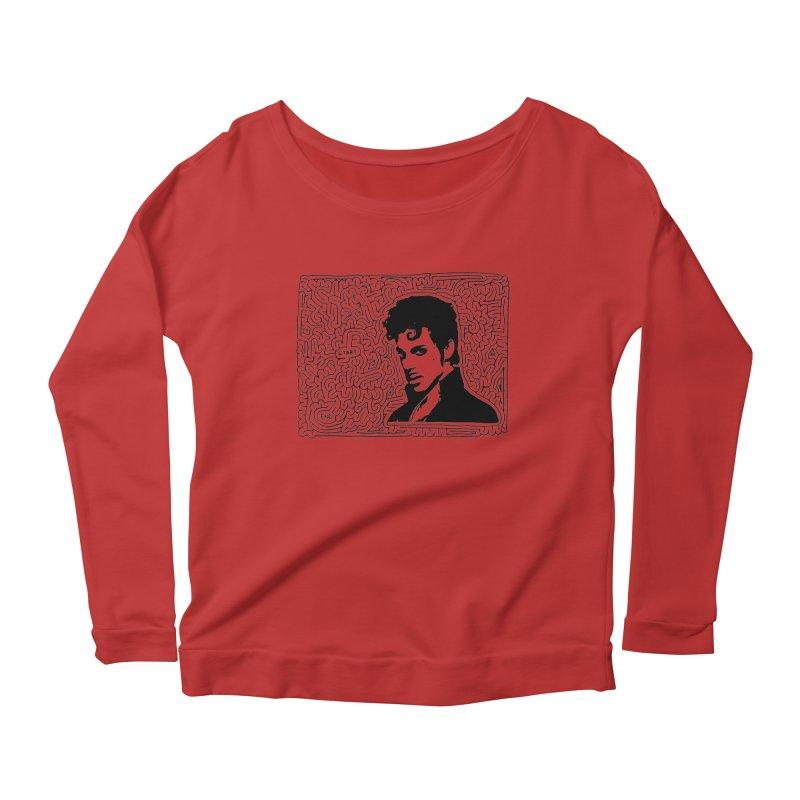 Prince Women's Scoop Neck Longsleeve T-Shirt by idrawmazes's Artist Shop