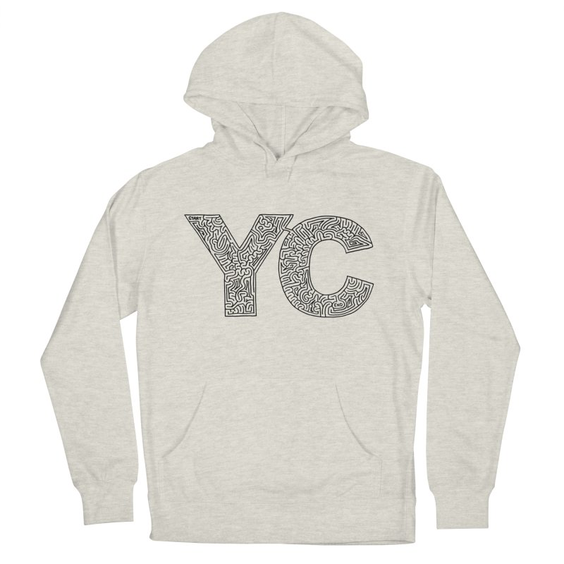 YC Women's French Terry Pullover Hoody by I Draw Mazes's Artist Shop