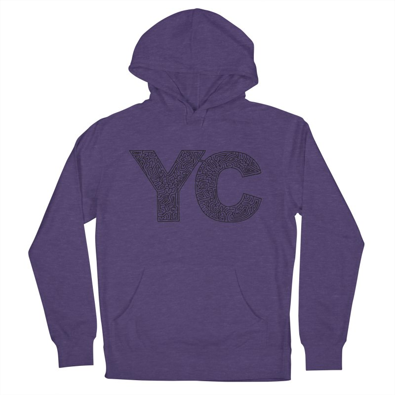 YC Men's French Terry Pullover Hoody by I Draw Mazes's Artist Shop