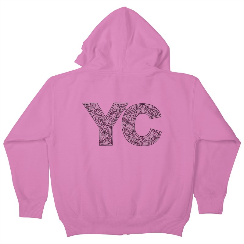 YC Kids Zip-Up Hoody by idrawmazes's Artist Shop