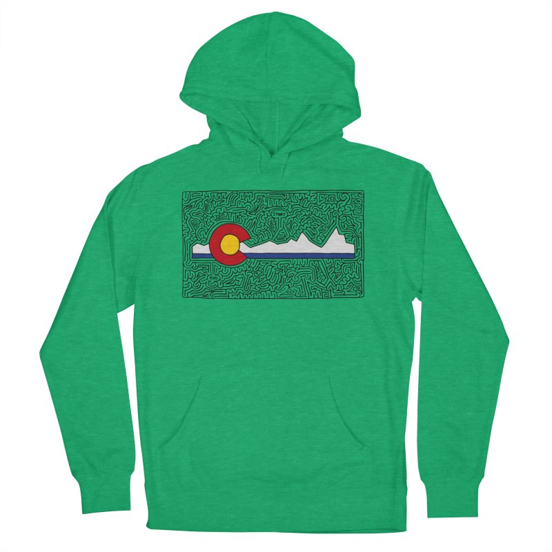 Colorado Maze Men's French Terry Pullover Hoody by idrawmazes's Artist Shop