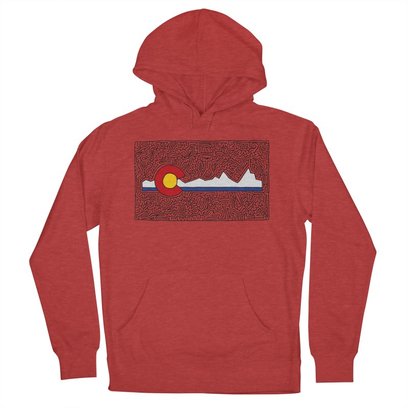Colorado Maze Men's French Terry Pullover Hoody by I Draw Mazes's Artist Shop