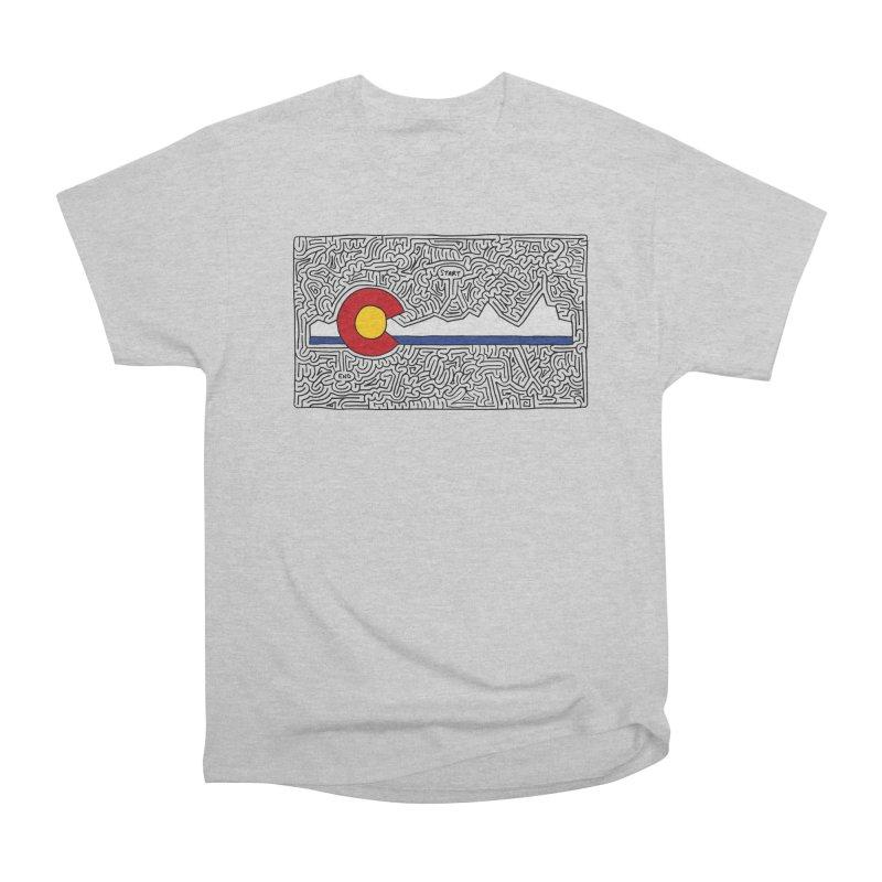 Colorado Maze Women's Heavyweight Unisex T-Shirt by idrawmazes's Artist Shop