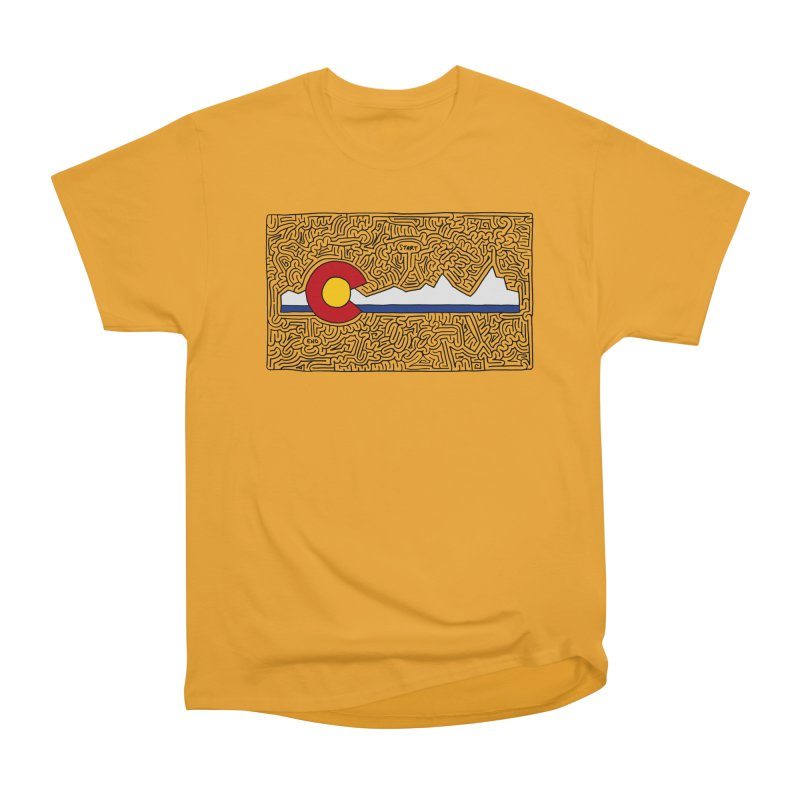 Colorado Maze Women's Heavyweight Unisex T-Shirt by I Draw Mazes's Artist Shop