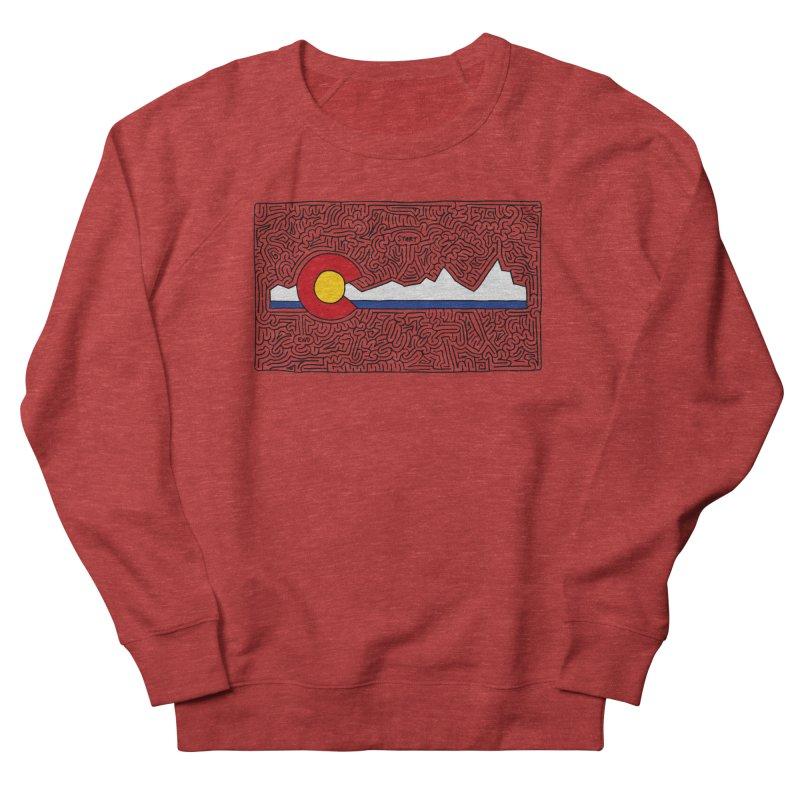 Colorado Maze Women's French Terry Sweatshirt by I Draw Mazes's Artist Shop