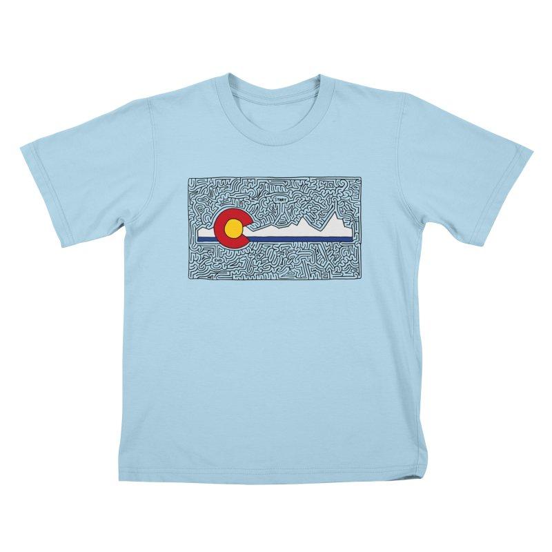 Colorado Maze Kids T-Shirt by I Draw Mazes's Artist Shop