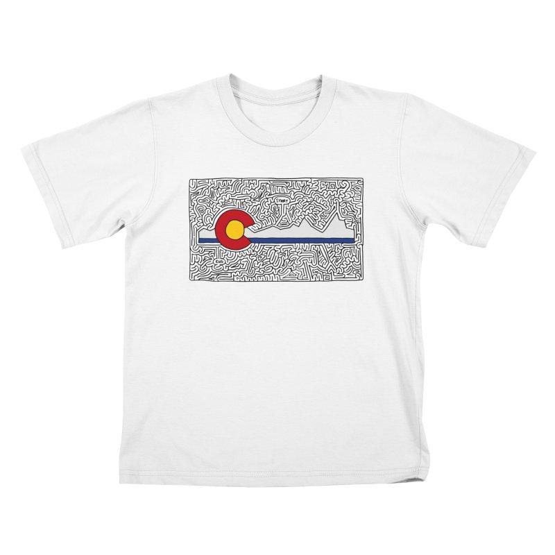 Colorado Maze Kids T-Shirt by idrawmazes's Artist Shop