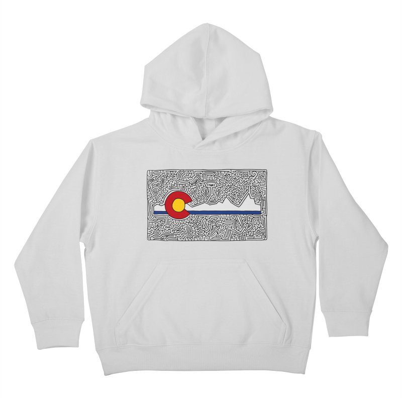 Colorado Maze Kids Pullover Hoody by idrawmazes's Artist Shop