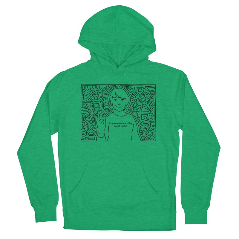 Blake maze Women's French Terry Pullover Hoody by I Draw Mazes's Artist Shop