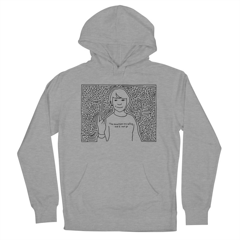 Blake maze Men's French Terry Pullover Hoody by I Draw Mazes's Artist Shop