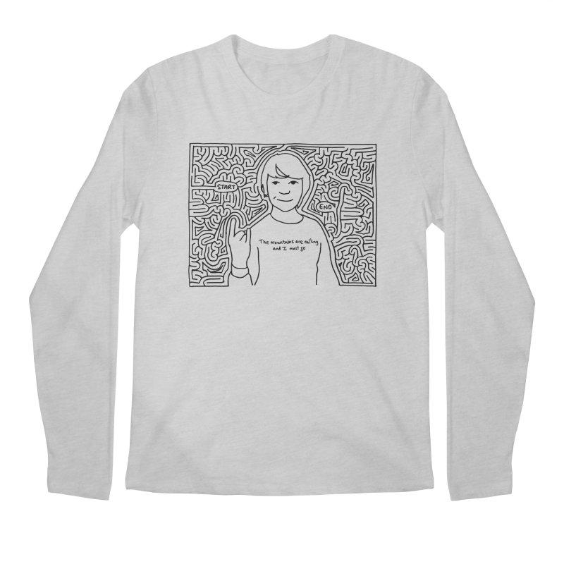 Blake maze Men's Regular Longsleeve T-Shirt by I Draw Mazes's Artist Shop
