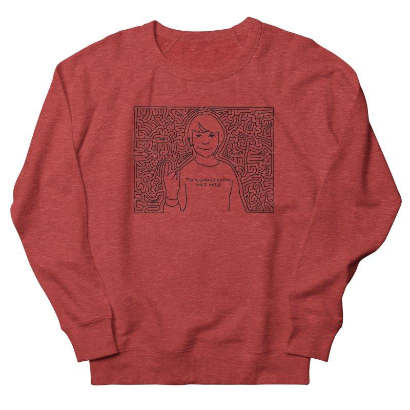 Blake maze Women's French Terry Sweatshirt by I Draw Mazes's Artist Shop