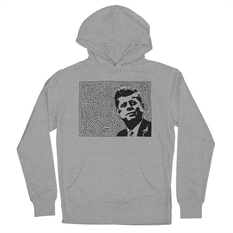 JFK maze Men's French Terry Pullover Hoody by idrawmazes's Artist Shop