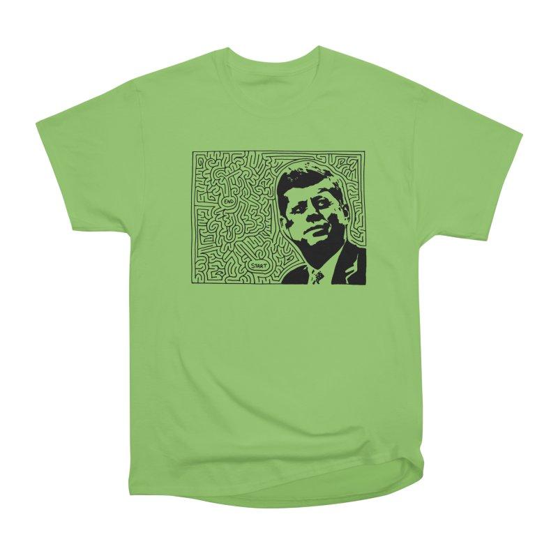JFK maze Women's Heavyweight Unisex T-Shirt by idrawmazes's Artist Shop