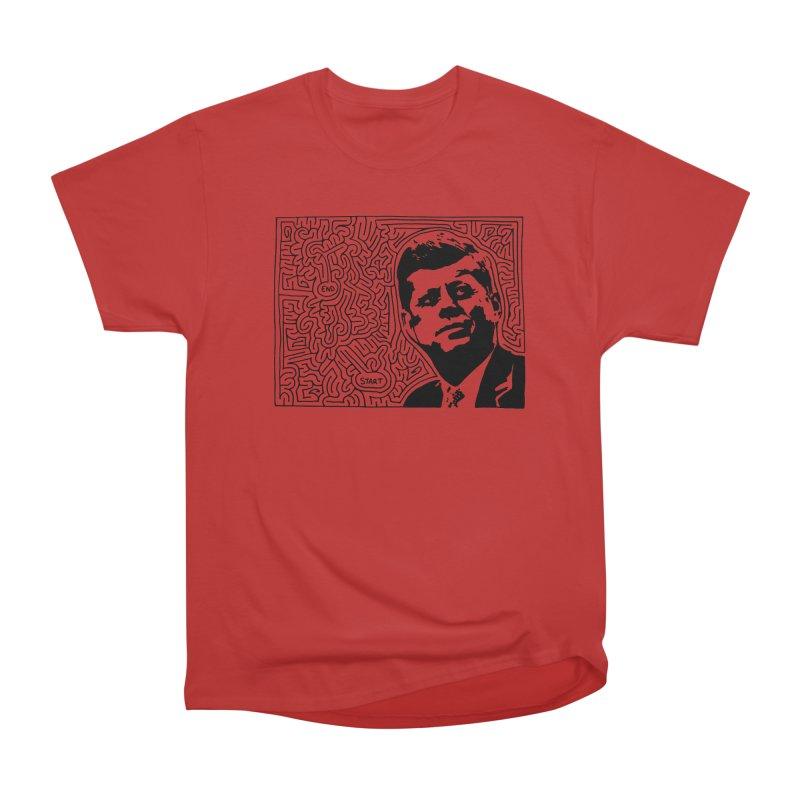 JFK maze Women's Heavyweight Unisex T-Shirt by I Draw Mazes's Artist Shop