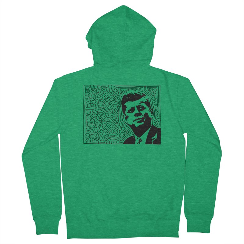 JFK maze Women's Zip-Up Hoody by idrawmazes's Artist Shop
