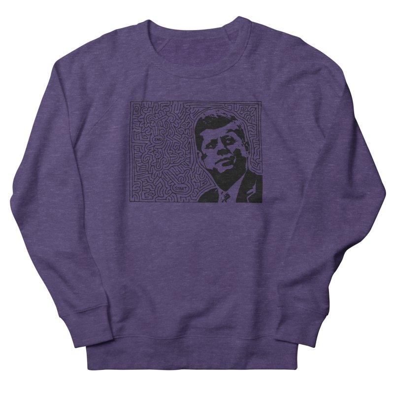 JFK maze Women's French Terry Sweatshirt by I Draw Mazes's Artist Shop