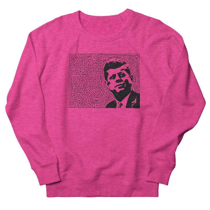 JFK maze Men's Sweatshirt by idrawmazes's Artist Shop