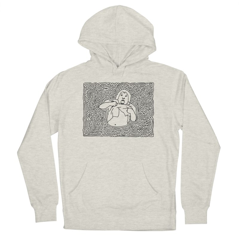 Truffle Shuffle Men's French Terry Pullover Hoody by I Draw Mazes's Artist Shop