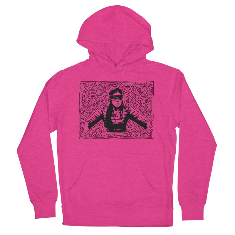 Sandra Bullock Women's French Terry Pullover Hoody by I Draw Mazes's Artist Shop