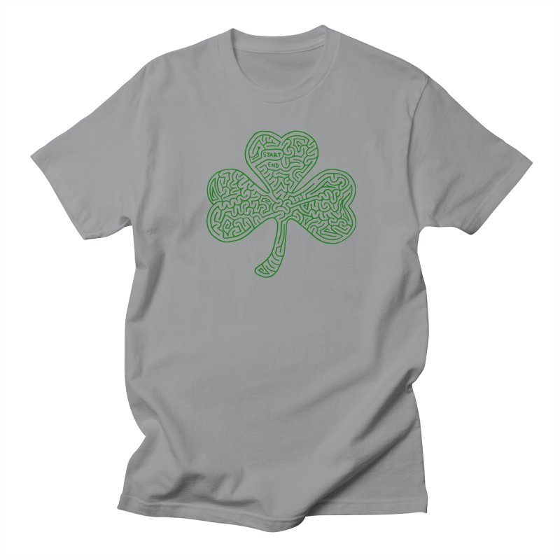 Shamrock (green) Women's Regular Unisex T-Shirt by I Draw Mazes's Artist Shop