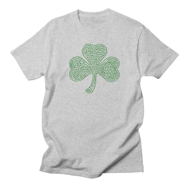 Shamrock (green) Men's Regular T-Shirt by I Draw Mazes's Artist Shop