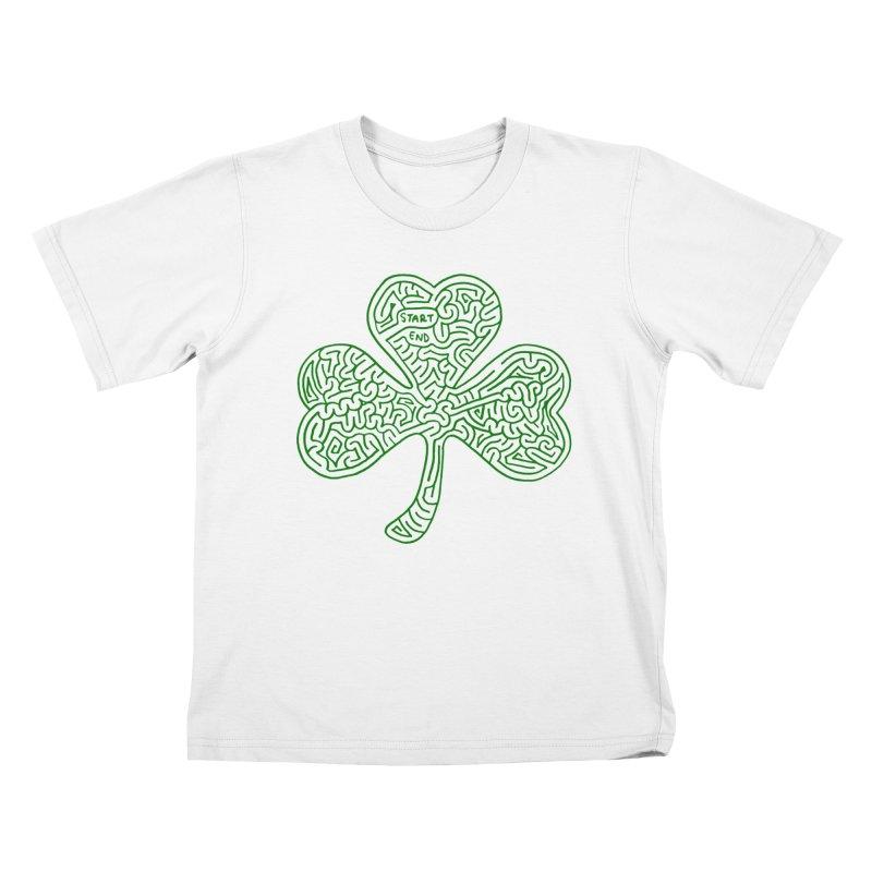 Shamrock (green) Kids T-Shirt by I Draw Mazes's Artist Shop
