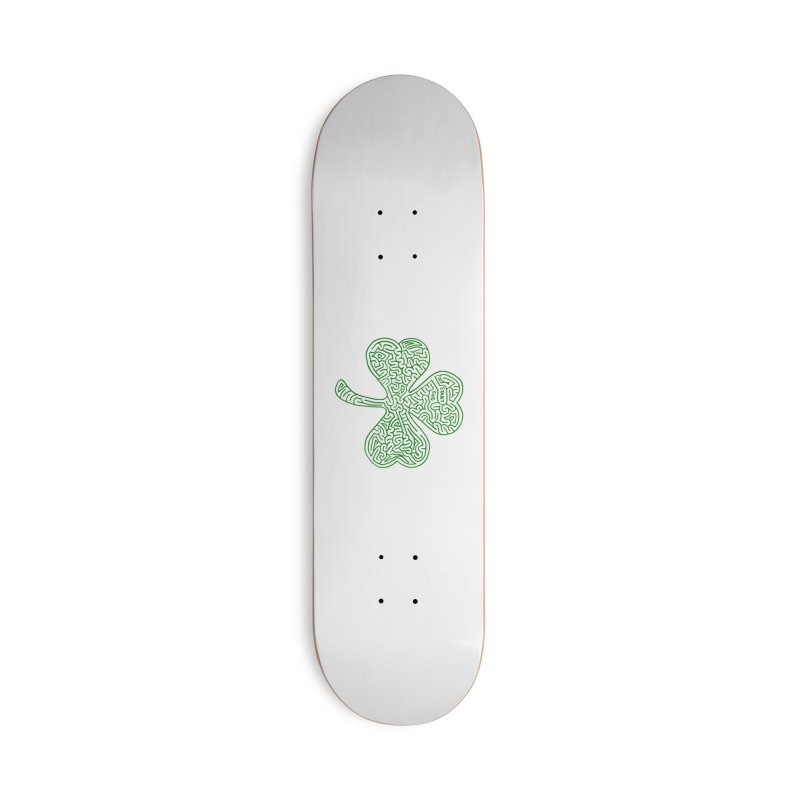 Shamrock (green) Accessories Deck Only Skateboard by I Draw Mazes's Artist Shop