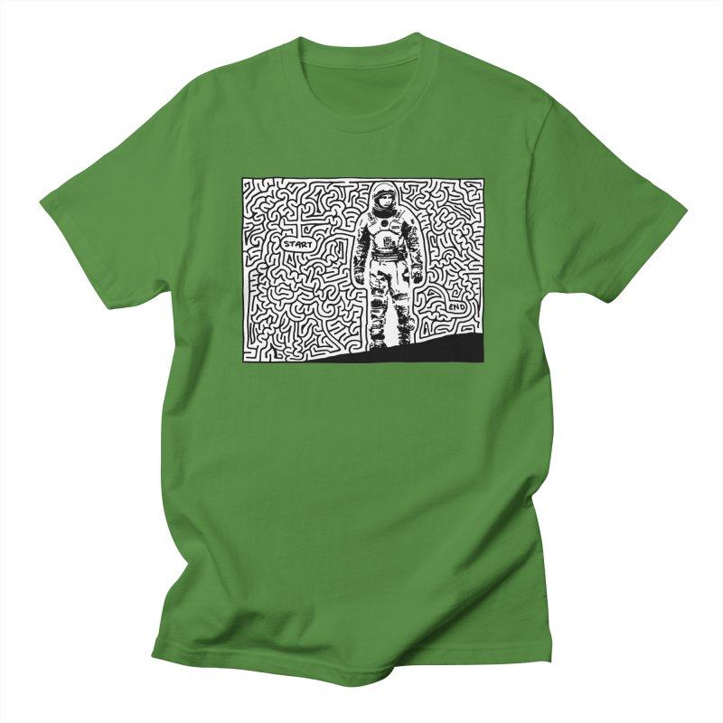 spaceman Men's Regular T-Shirt by I Draw Mazes's Artist Shop