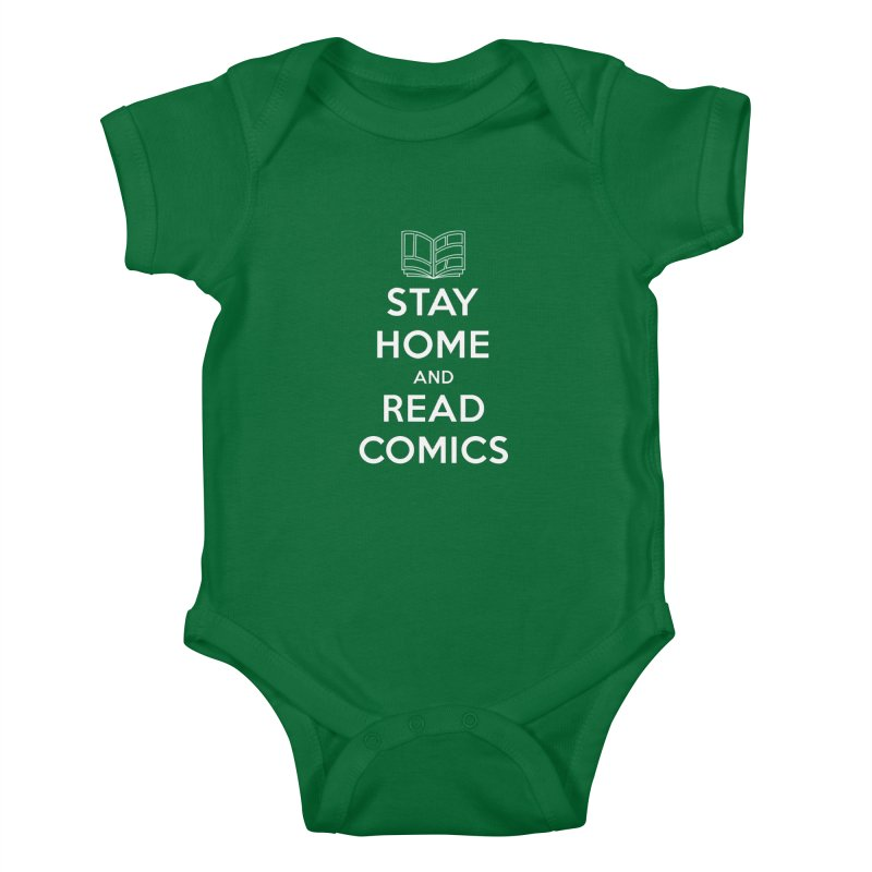 Stay Home and Read Comics Kids Baby Bodysuit by iFanboy