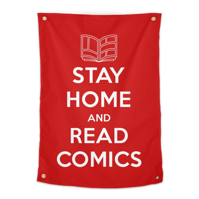 Stay Home and Read Comics Home Tapestry by iFanboy