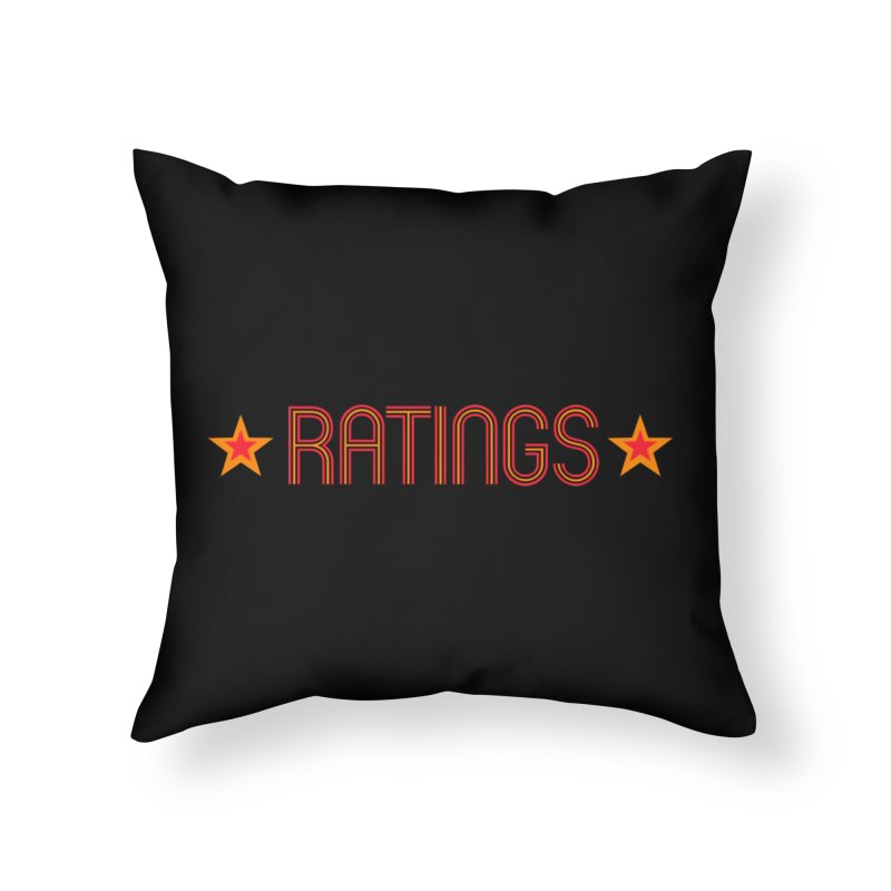 Ratings Home Throw Pillow by iFanboy