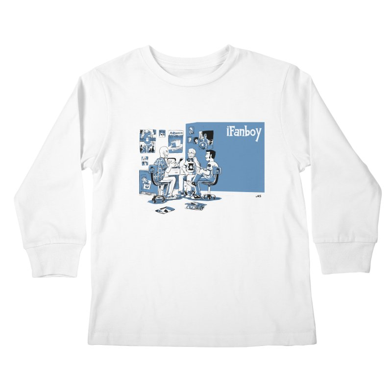 Pick of the Week Podcast Kids Longsleeve T-Shirt by iFanboy