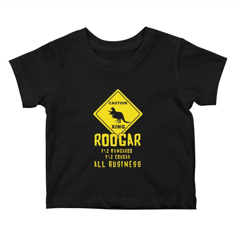 Roogar Kids Baby T-Shirt by iffopotamus