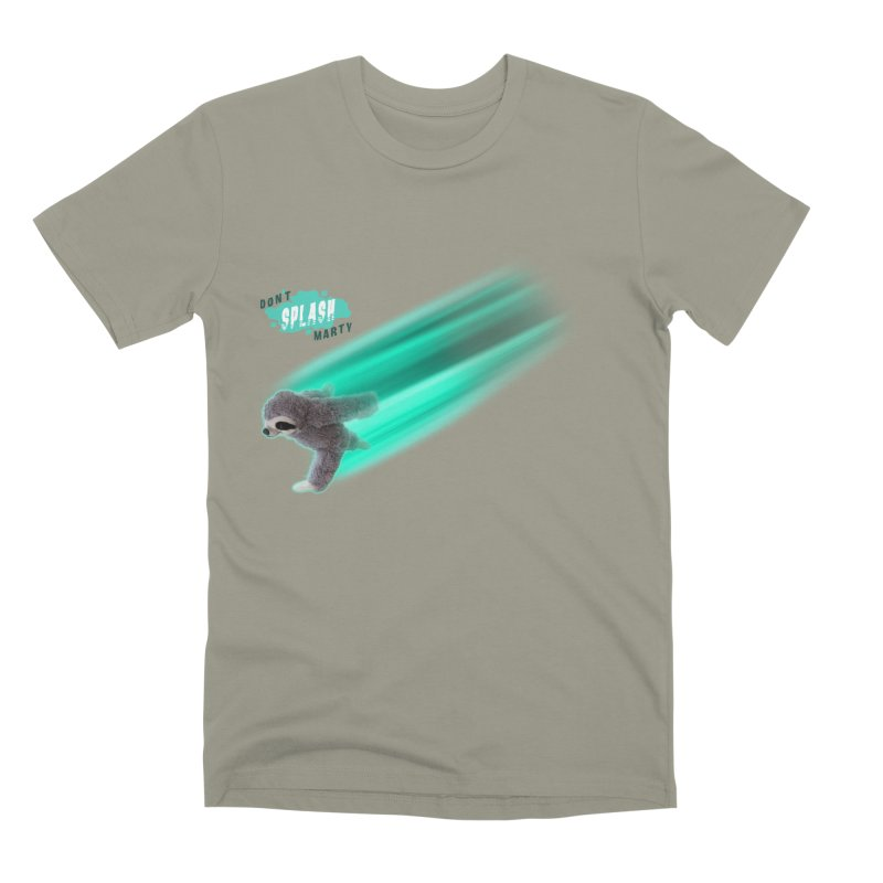 Don't Splash Marty - Running Men's Premium T-Shirt by iffopotamus