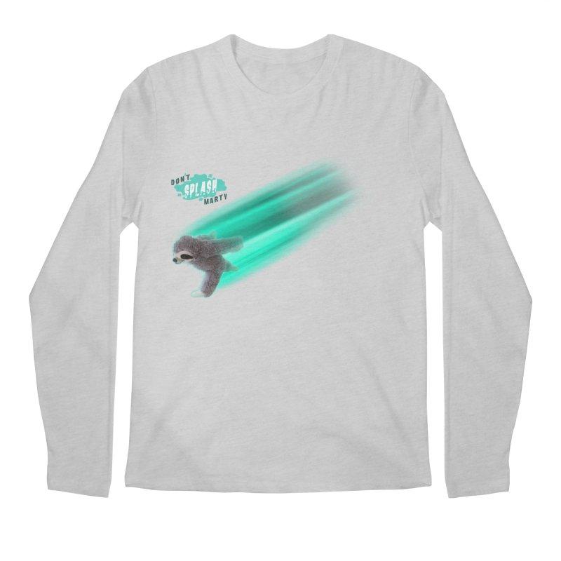 Don't Splash Marty - Running Men's Longsleeve T-Shirt by iffopotamus