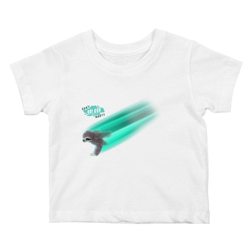 Don't Splash Marty - Running Kids Baby T-Shirt by iffopotamus