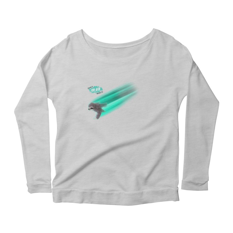 Don't Splash Marty - Running Women's Scoop Neck Longsleeve T-Shirt by iffopotamus