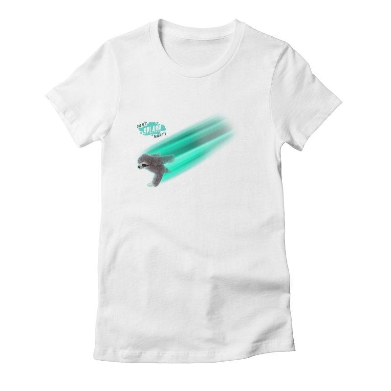 Don't Splash Marty - Running Women's Fitted T-Shirt by iffopotamus