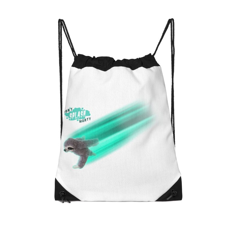 Don't Splash Marty - Running Accessories Drawstring Bag Bag by iffopotamus