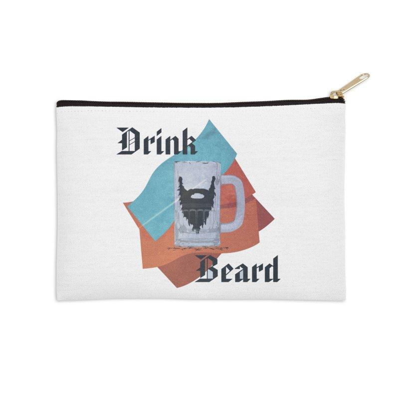Drink Beard Accessories Zip Pouch by iffopotamus