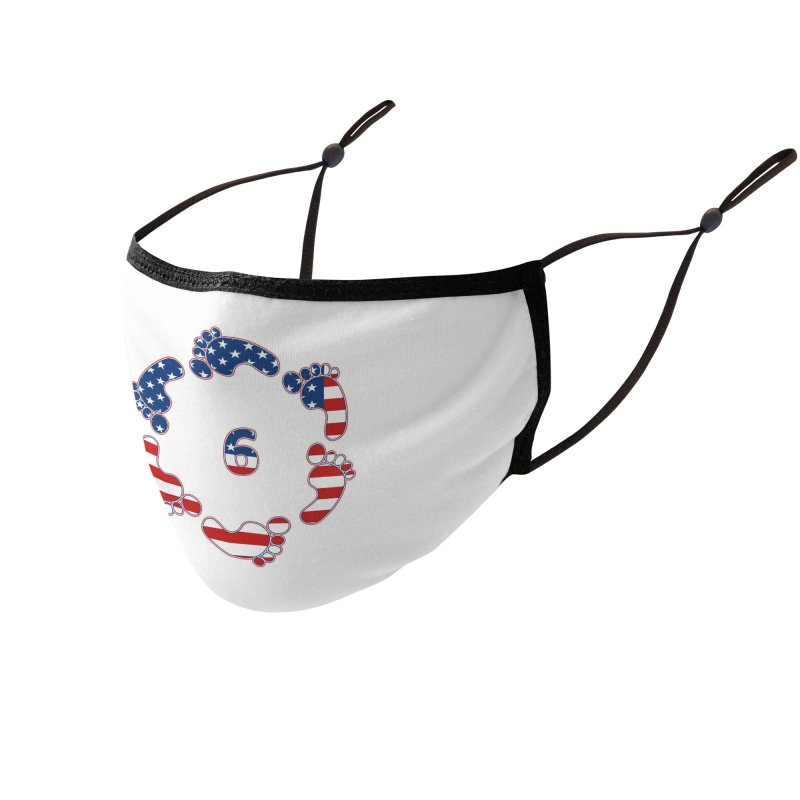 6 Feet USA Accessories Face Mask by iffopotamus