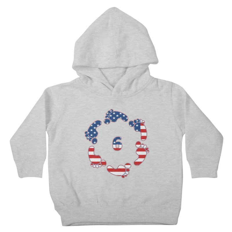 6 Feet USA Kids Toddler Pullover Hoody by iffopotamus