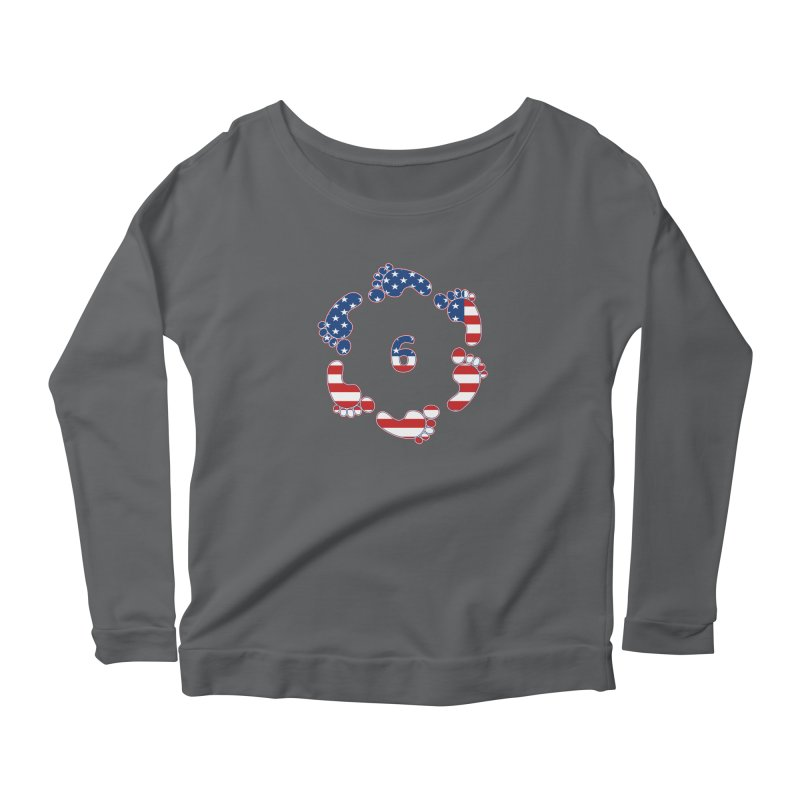 6 Feet USA Women's Longsleeve T-Shirt by iffopotamus